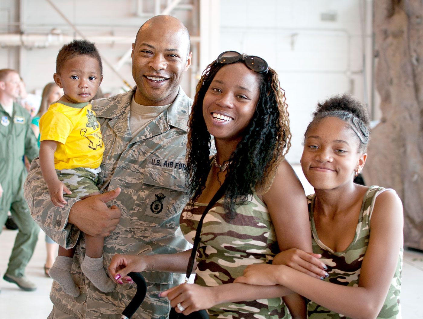 Army father and family